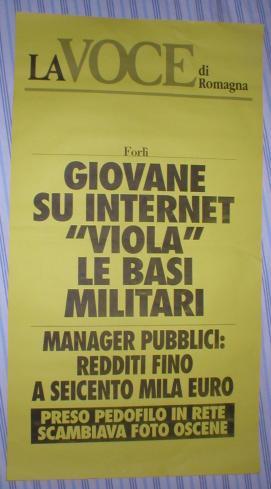 """Giovane su internet \""""viola\"""" le basi militari"""