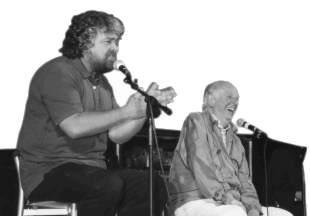 Beppe Grillo e Dario Fo a Forlì
