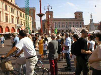 Manifestazione 27 Agosto 2005 contro l\'inceneritore di Forlì