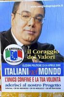 manifesto elettorale De Gregorio