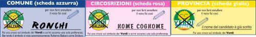 fac simile comune 3 schede alessandro ronchi forli small Roberto Balzani sindaco per Forlì